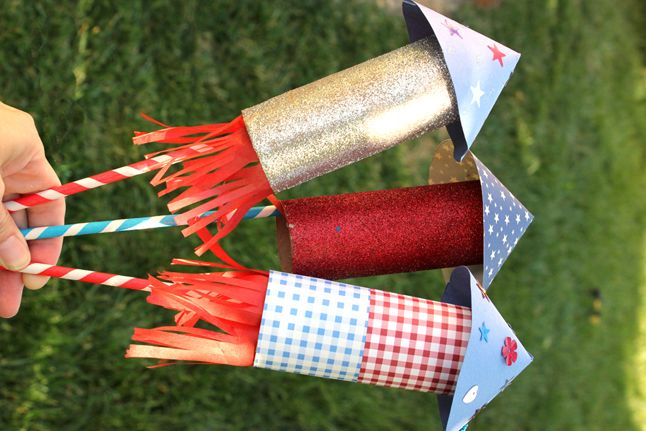 Toilet Roll Rockets For Kids