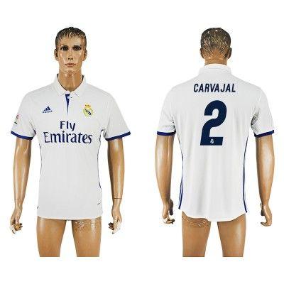 Real Madrid 16-17 Carvajal 2 Hjemmebanetrøje Kortærmet. http://www ...