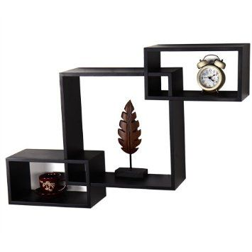 Amazon.com: 3 Piece Decorative Collage Wall Shelves - 12AD078 ADECO - Cabinet Display Frame For Home Art Decor,Black: Home & Kitchen