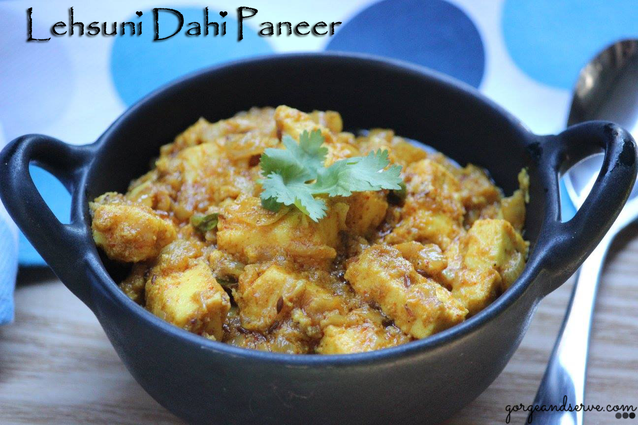 Presenting you Paneer in a complete new avatar :-) simmered in lots and lots of garlic & yogurt ,this recipe will make you drool.It's simple but delicious, light yet flavorful and will l…