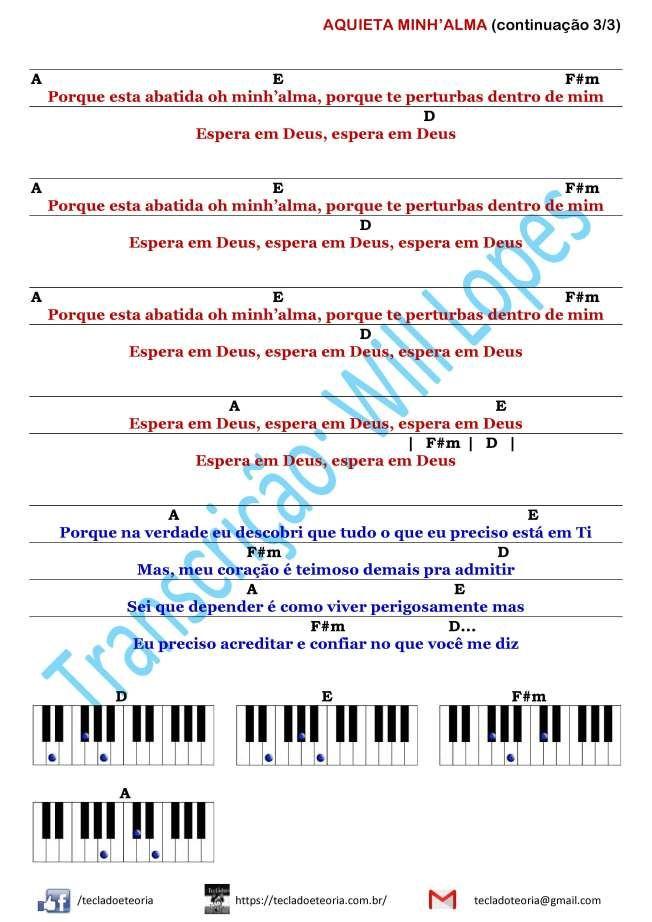 Ministério Zoe Aquieta Minh'alma (cifra para teclado
