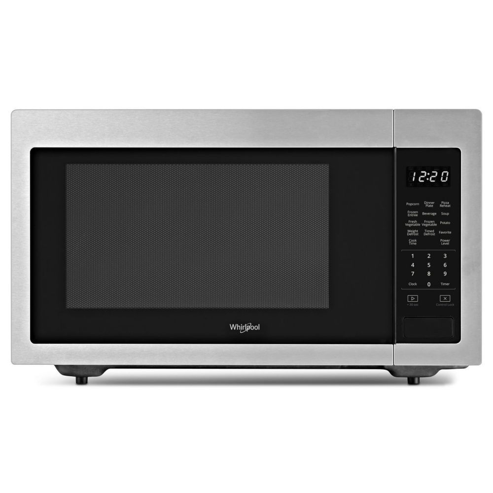 1 6 Cu Ft Countertop Microwave In Fingerprint Resistant Stainless Steel Countertop Microwave Stainless Steel Microwave Stainless Steel Countertops
