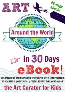 I'm excited to present to you my Art Around the World in 30 Days eBook. Free if you signup for email list in Dec 2014