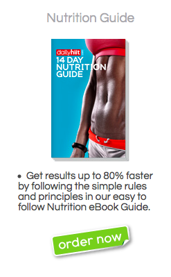 14 day nutrition guide e book bodyrock daily hiit store just rh pinterest com Recommended Daily Nutrition Chart Daily Nutrition Chart