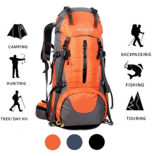 3d2ddbf2e0 ONEPACK 70L(65+5)Hiking Backpack Waterproof Outdoor Sport Daypack with Rain.