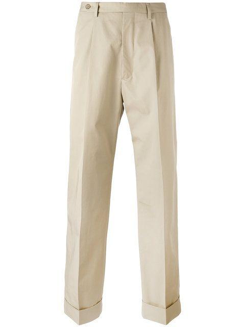 MAISON MARTIN MARGIELA straight leg turn up trousers. #maisonmartinmargiela #cloth #trousers