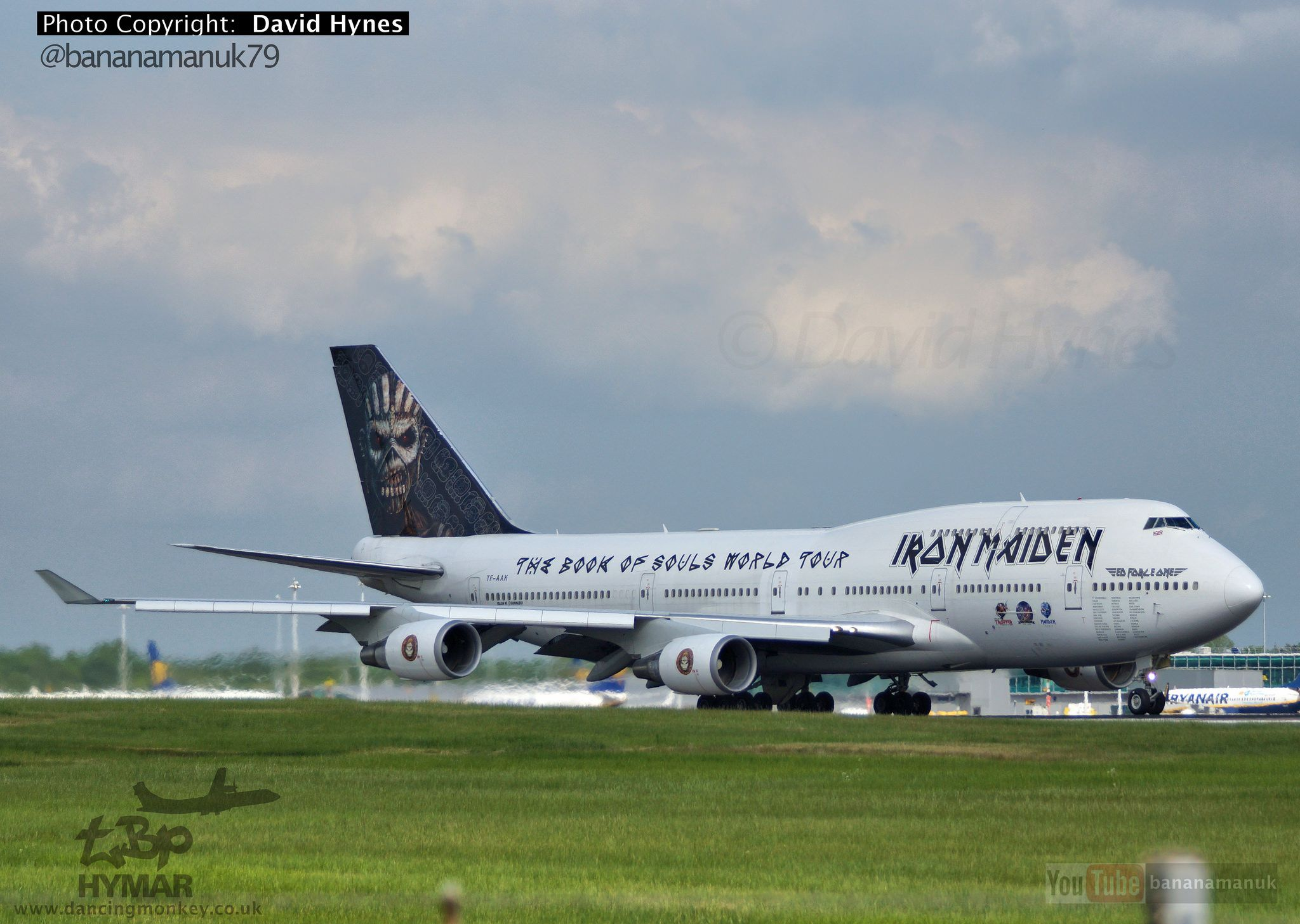 Iron Maiden Tf Aak Departing London Stansted Airport Air Atlanta Icelandic Tf Aak Air Atlanta Icelandic London Stansted Airport Iron Maiden