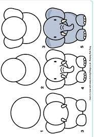 Susse Idee Fur Einfache Elefanten Zeichnen Zeichnen Basteln