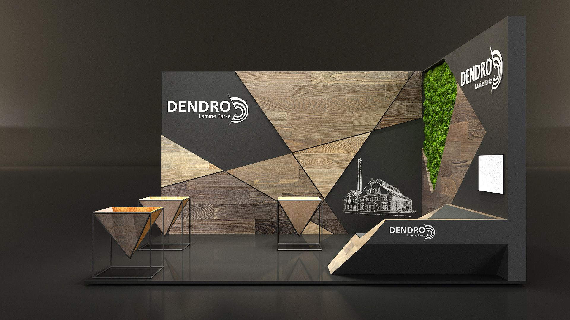 Exhibition Stand Design Graphic : Dendro exhibition stand on behance office interior