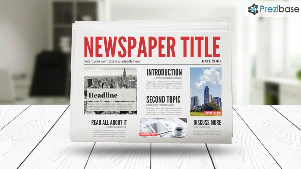 3d newspaper prezi presentation template