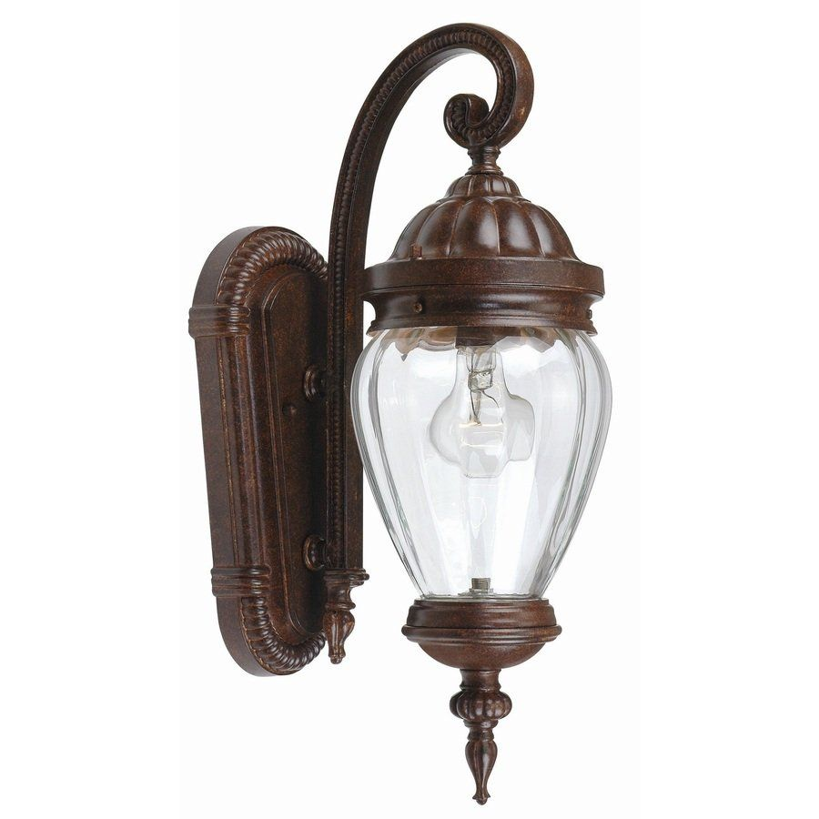 Portfolio Antique Rust Outdoor Wall Light At Lowe S