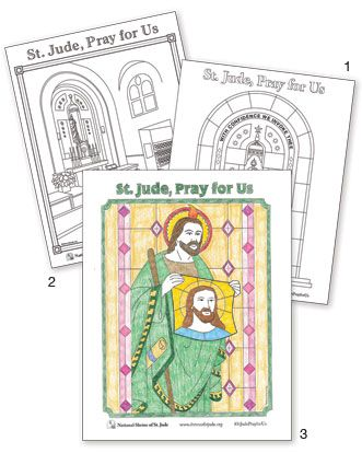 Download our new FREE St Jude Coloring Pages St Jude Pinterest