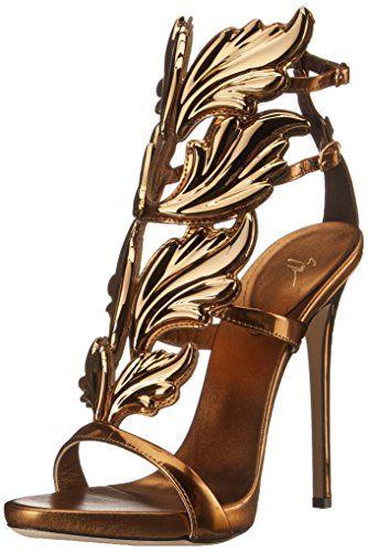 Giuseppe Zanotti Women's Gold Leaf Strappy Dress Sandal