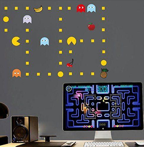 Pacman Wall Decal Decor @ niftywarehouse.com  sc 1 st  Pinterest & Pacman Wall Decal Decor @ niftywarehouse.com   Pac-Man   Pinterest ...