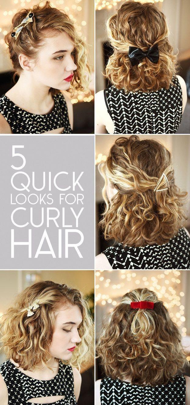 styles de coiffures magnifiques pour les cheveux bouclés easy