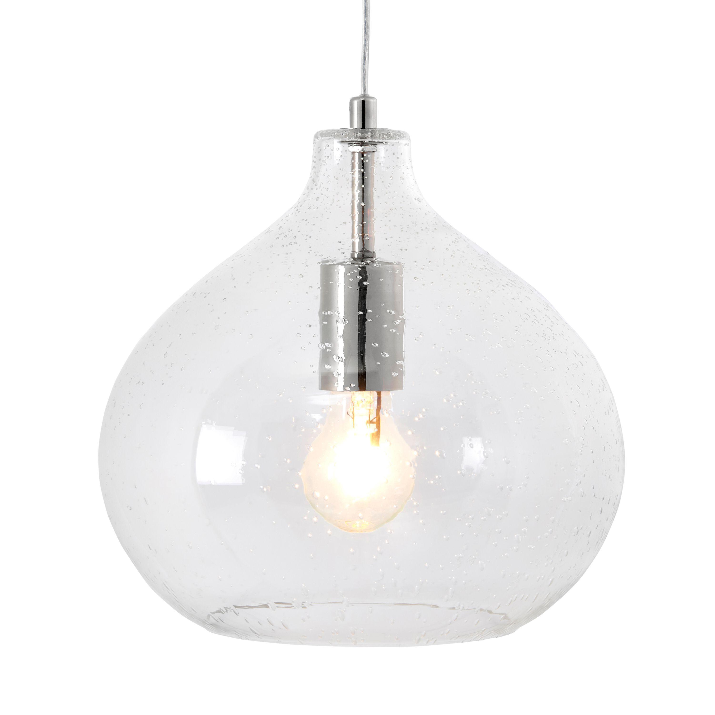 Bathroom Light Fixtures B&Q hester bubble glass pendant ceiling light | glass pendants