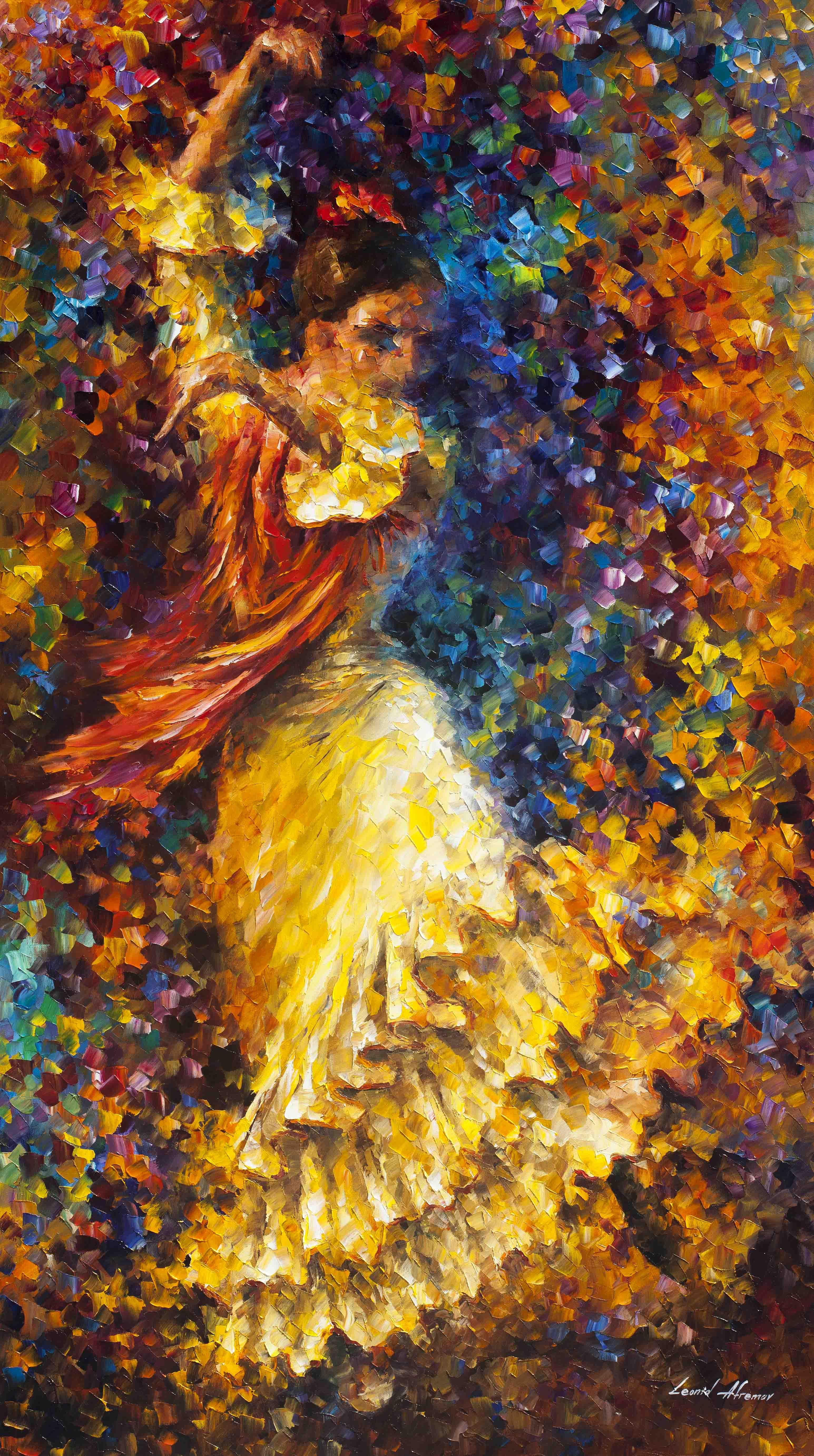 afremov, original, oil, painting, palette knife, impressionist,  impressionism, surreal