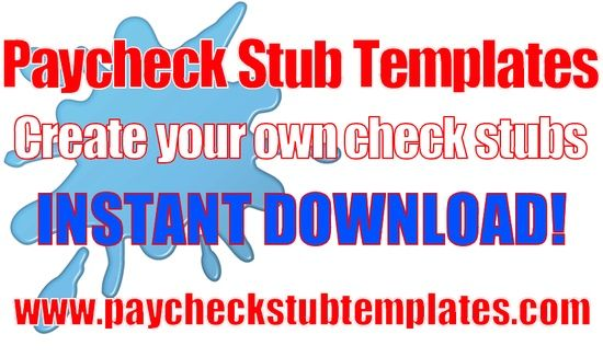 Paycheck Stub Templates are simple and easy to use No software - paycheck templates