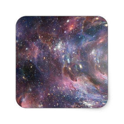 Deep space square sticker craft supplies diy custom design supply special