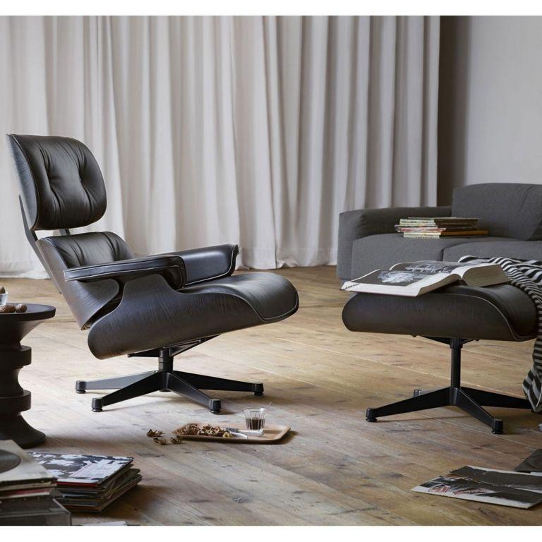 Fantastisch Vitra Eames Lounge Chair Loungesessel Mit Ottoman Loungestuhl (neue Maße)  Schwarz
