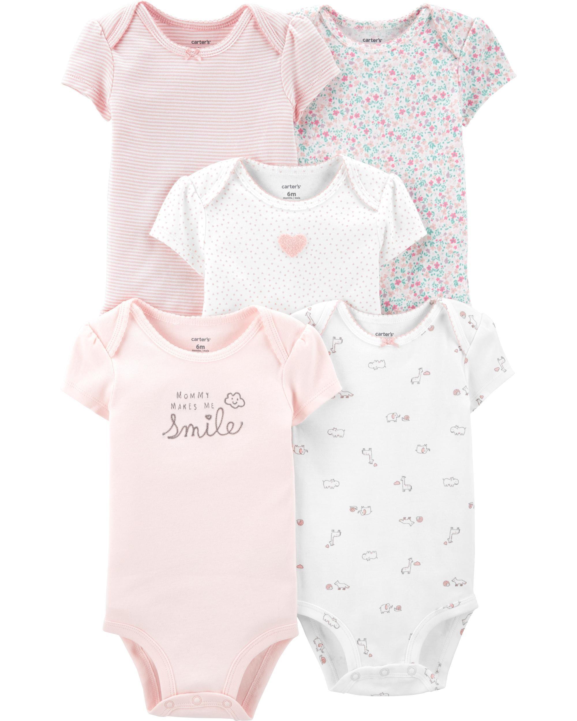 traje de sol y vestido Simple Joys by Carters Baby Girls paquete de 3 pelele