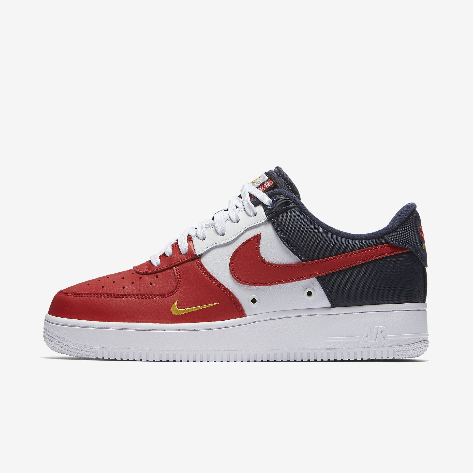 Air Force 1, Nike Air Force, Sneaker Heads, Nike Shoes, University, Red,  Black, Size 12, Kicks