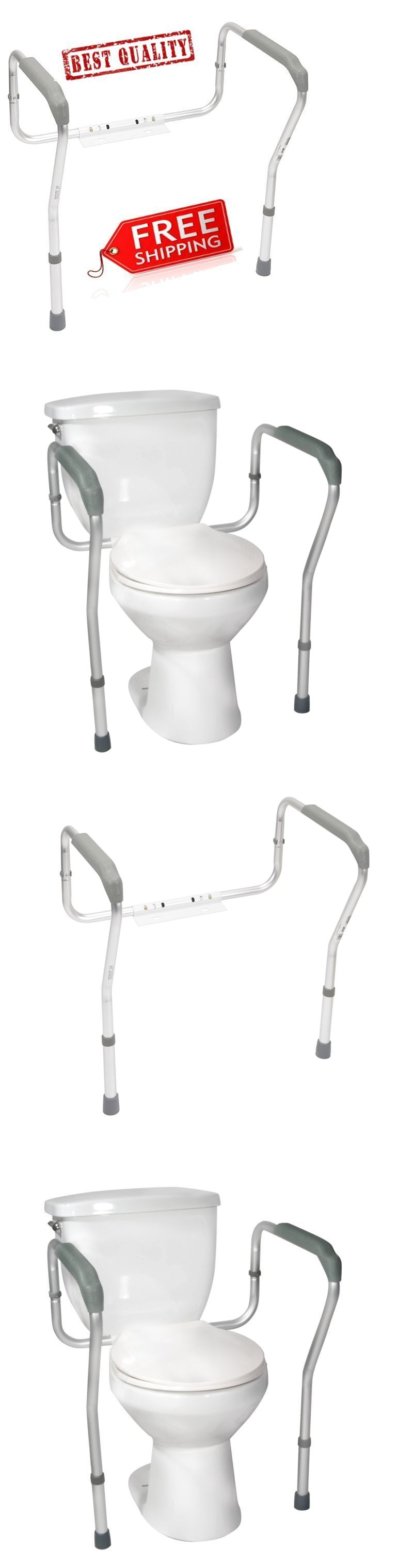 Handles and Rails: Toilet Support Rail Grab Bars Adjustable Safety ...