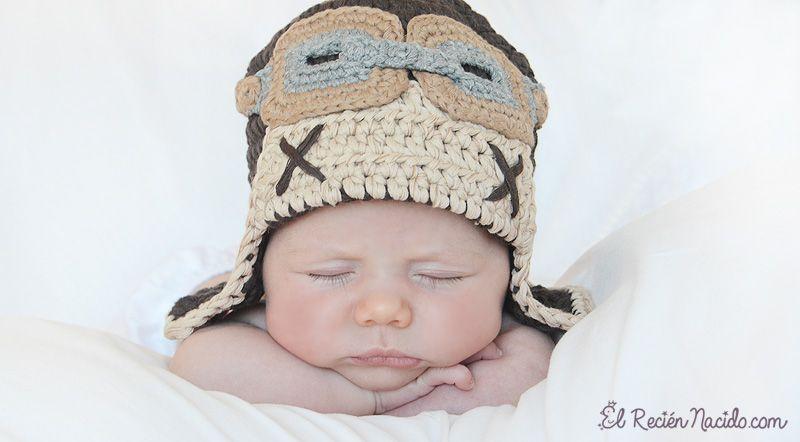 Gorros de crochet y ganchillo para bebés   Gorros de crochet, Gorros ...