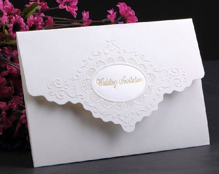 Simple wedding card invitation classic style tri fold card paper simple wedding card invitation classic style tri fold card paper garden theme non personalized great stopboris Image collections