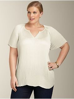 2c6135656b8 Crystal-Pleat Top by Talbots. All over pleating or tenting   Seriously