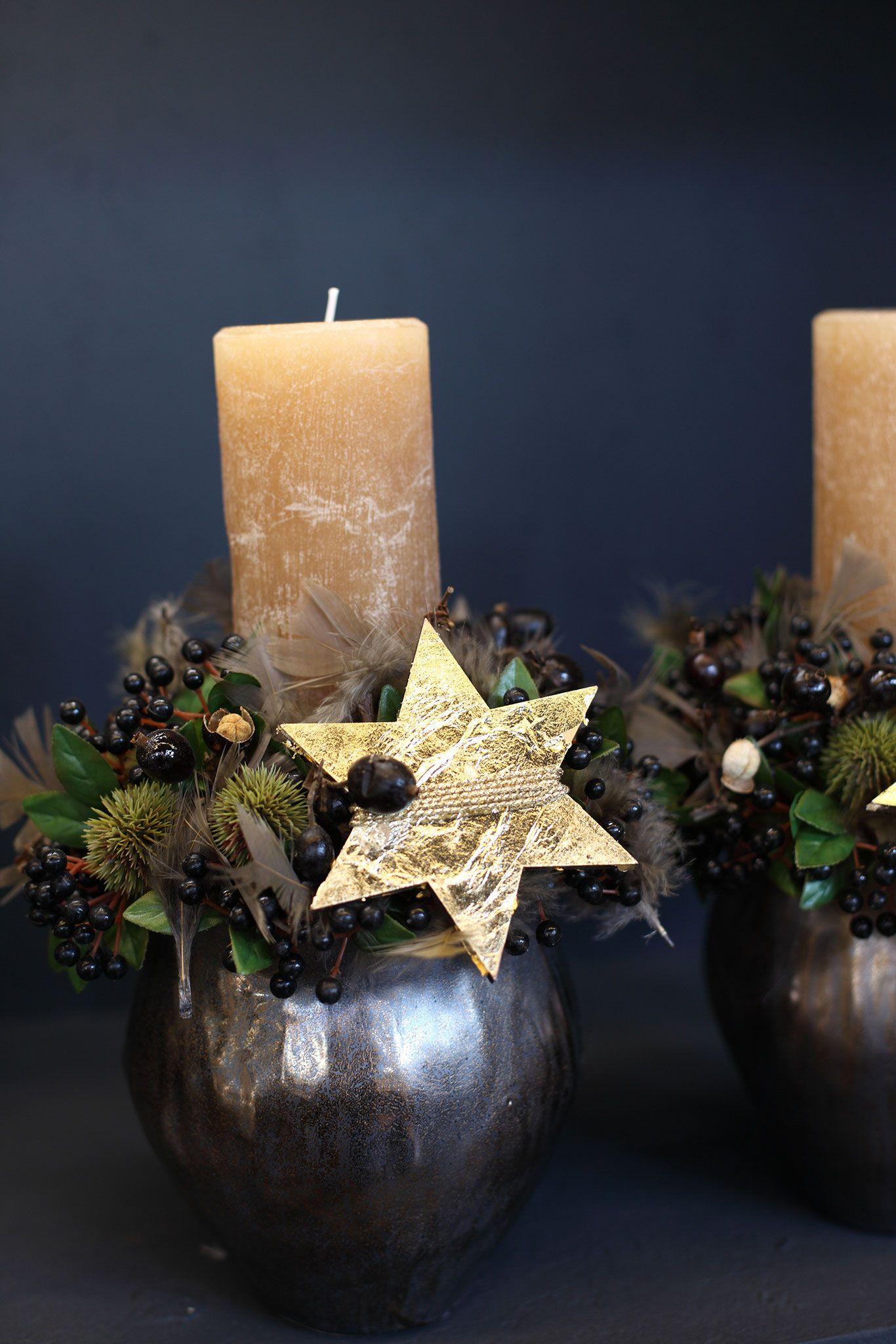 Weihnachtliche Gesteckideen 2016 Teil 1 - Fachgroßhandel für Floristikbedarf, Deko & Wohnaccessoires #weihnachtlicheszuhause