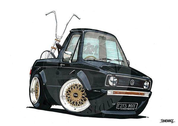 Vw Mk1 Caddy On Behance Sketch Pinterest Mk1 Vw And