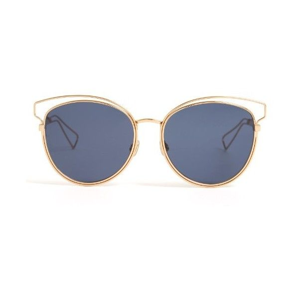 Dior Cat-eye mirrored sunglasses (1.180 BRL) ❤ liked on Polyvore featuring  accessories 1bd4ba5029