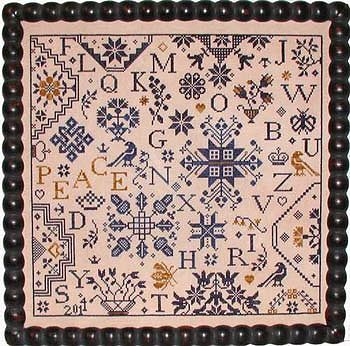 Simple Gifts Peace Quaker Sampler Prasieworthy Stitches Cross Stitch Pattern