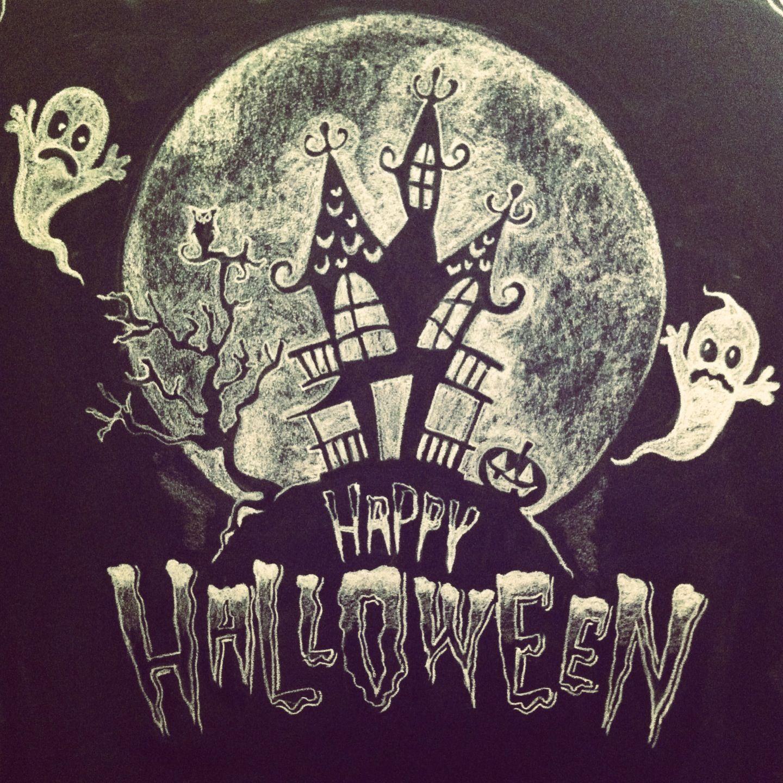 Love This Halloween Pinterest Chalkboards Chalk Design - Cool chalkboard halloween decor