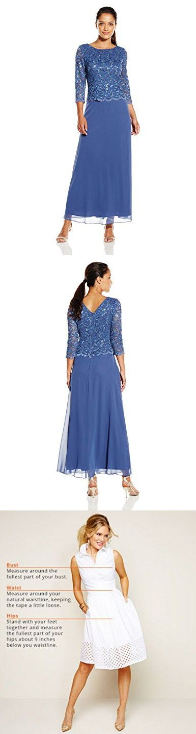 0288893f4b Alex Evenings Women s Long Mock Dress with Full Skirt (Petite and Regular  Sizes)