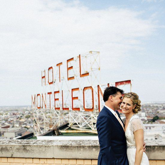 Vintage, glamorous, and quintessentially New Orleans, we love everything about Anna and Spencer's wedding! Photo: Dorka Photography