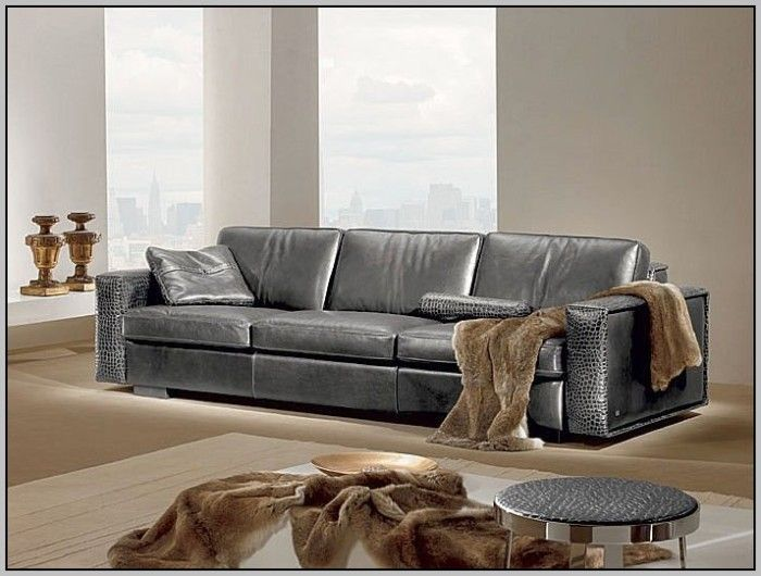 2017 Hottest And Trendiest Gray Leather Sofas For Fashionable Living Spaces Grey Leather Sofa Contemporary Leather Sofa Sofa Design