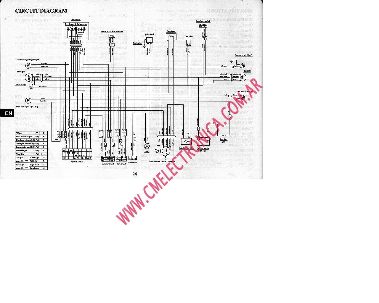 Plano Electrico Ax 100 Suzuki Montajes Eléctricos Circuit Diagram Circuit Diagram