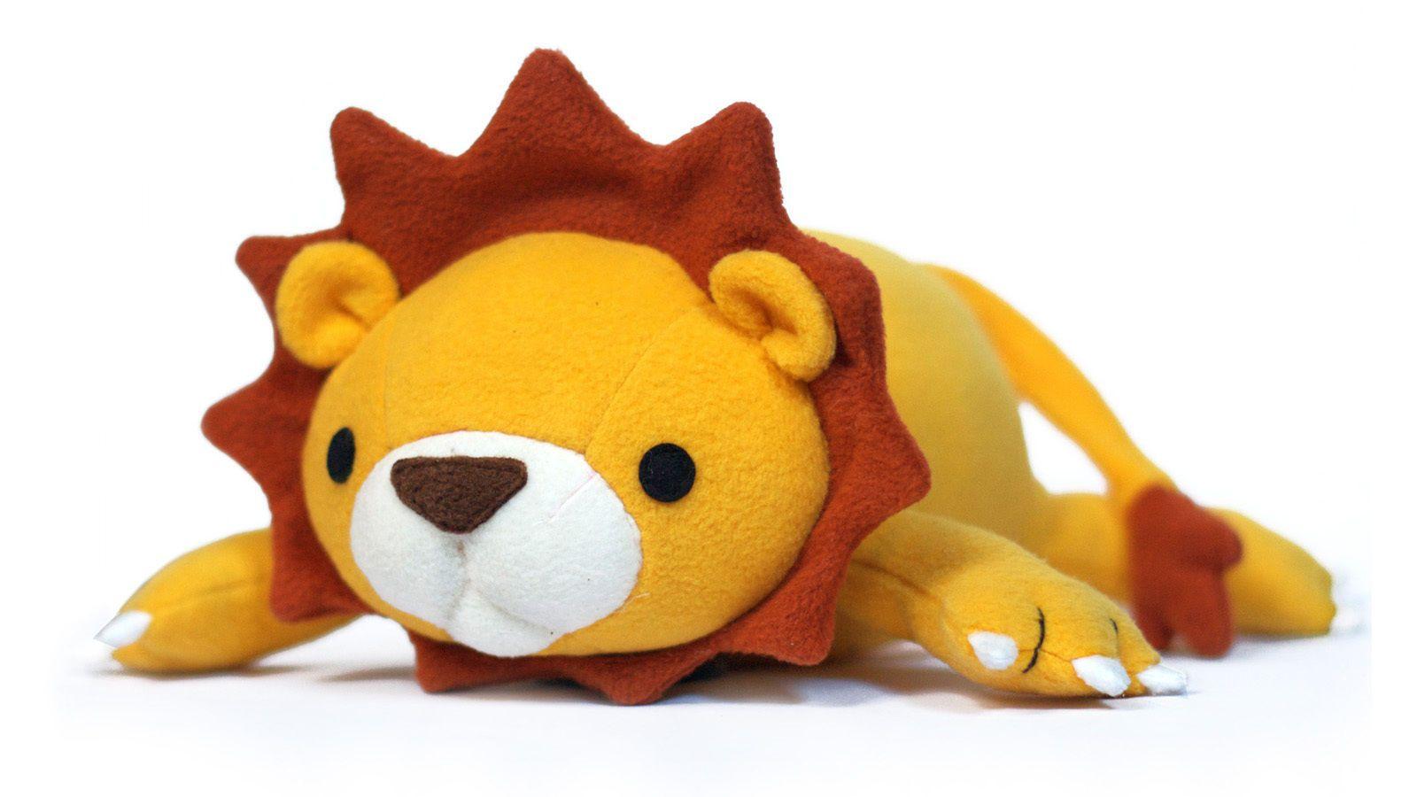 Lucky der Löwe Nähanleitung und Schnittmuster Stofftier | Stofftiere ...