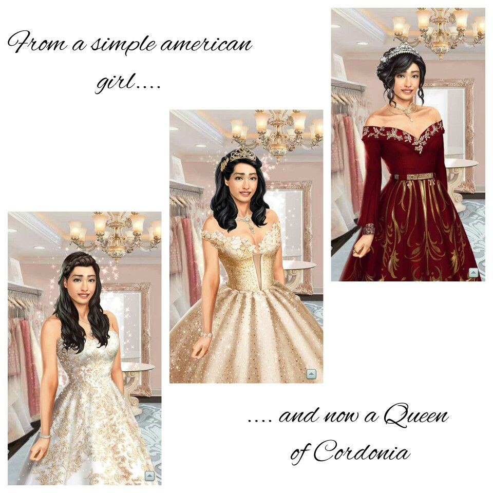 From waitress to a Queen Choices game, Formal dresses