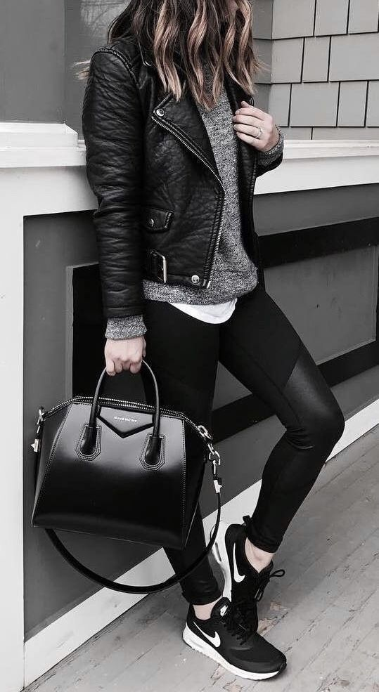 LOOKS with leather CAMPERA for EVERYDAY