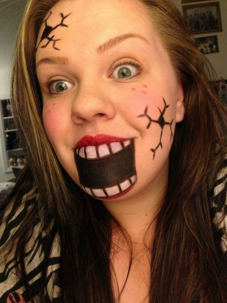 maquillaje halloween boca Disfrases Pinterest Costumes, Makeup - face makeup ideas for halloween