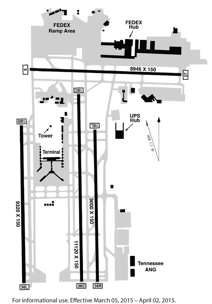 mem airport diagram