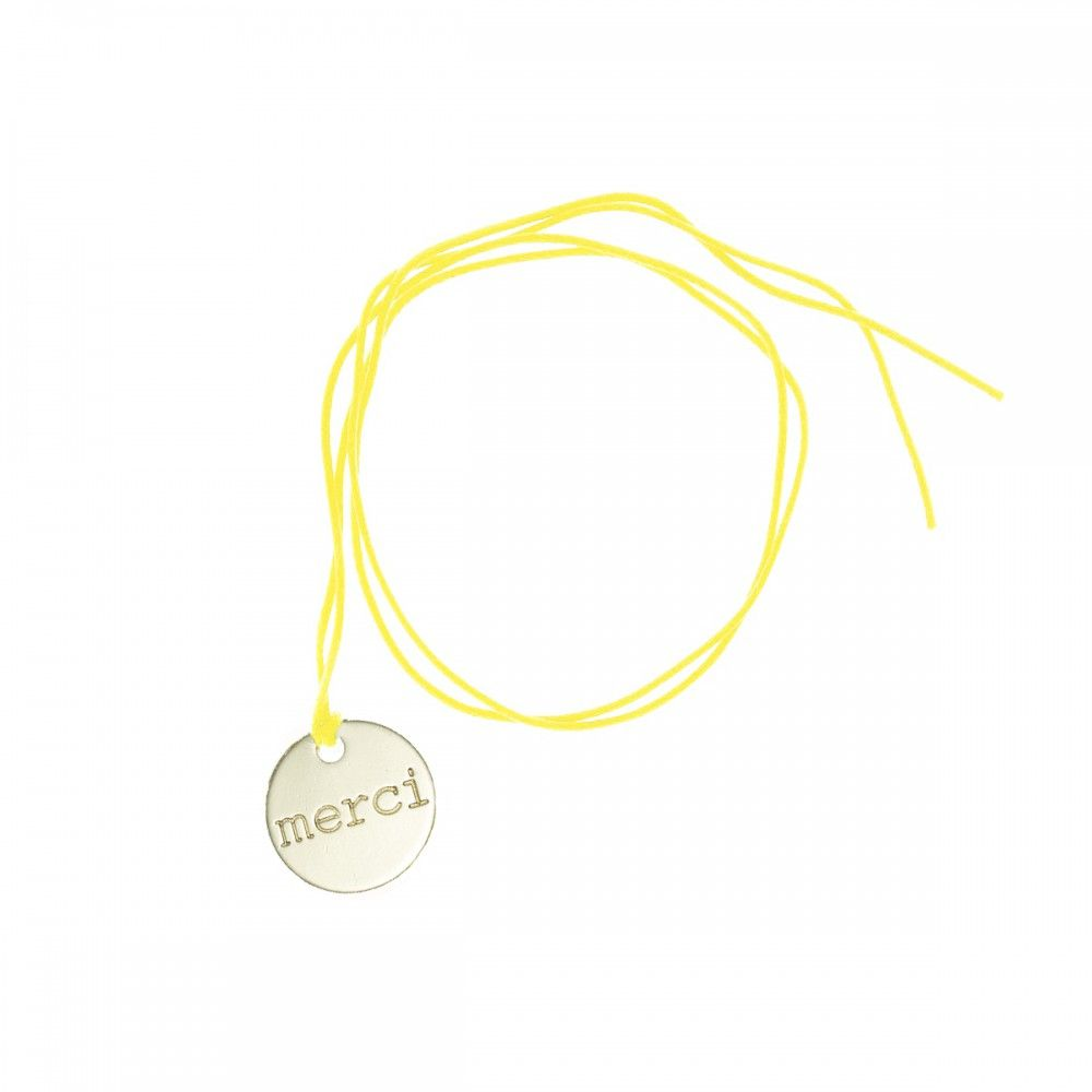 Fashion cord medal - merci