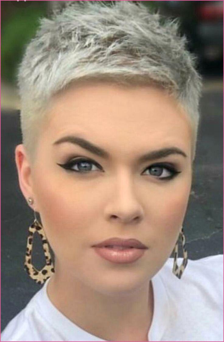 Sehr Kurze Haare Damen  Pixie graue haare, Extrem kurze haare