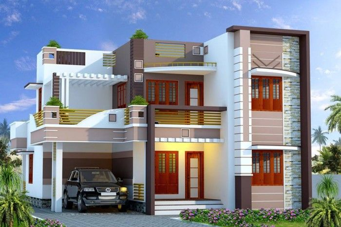Front Elevation Tiles Models : Home front elevation models modern duplex floor house