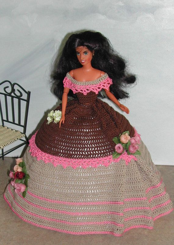 Crochet Fashion Doll Barbie Pattern- #585 COTILLION BALL GOWN #5 ...
