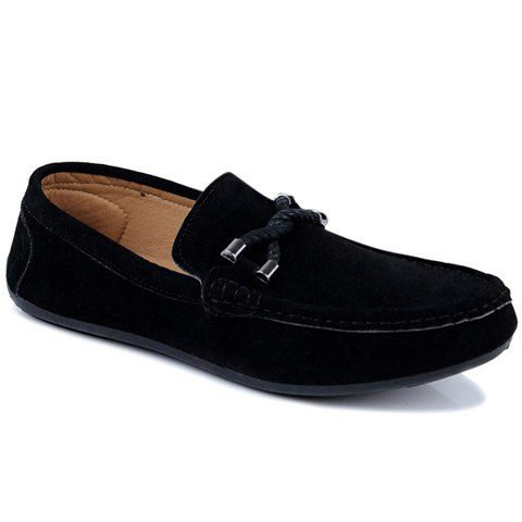 Concise Style Suede And Flat Design Men S Loafers Loafers Men Mens Fashion Casual Shoes Mens Casual Shoes