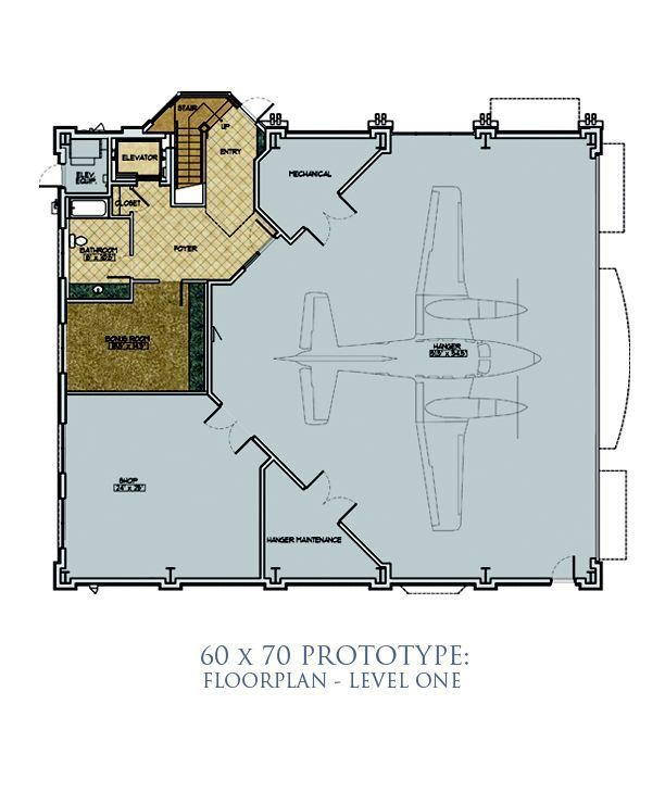 Hangar Size 60 X 70 Home Plans In 2018 Pinterest